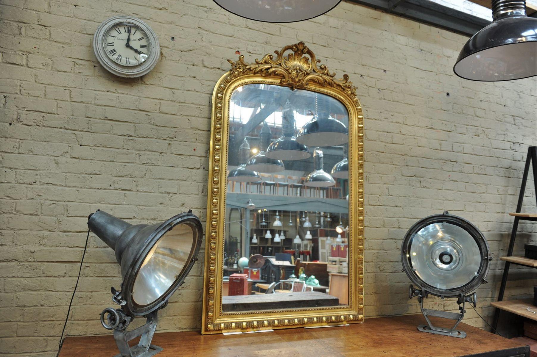 Spiegel im vergoldeten holzrahmen 1900er bei pamono kaufen for Spiegel holzrahmen