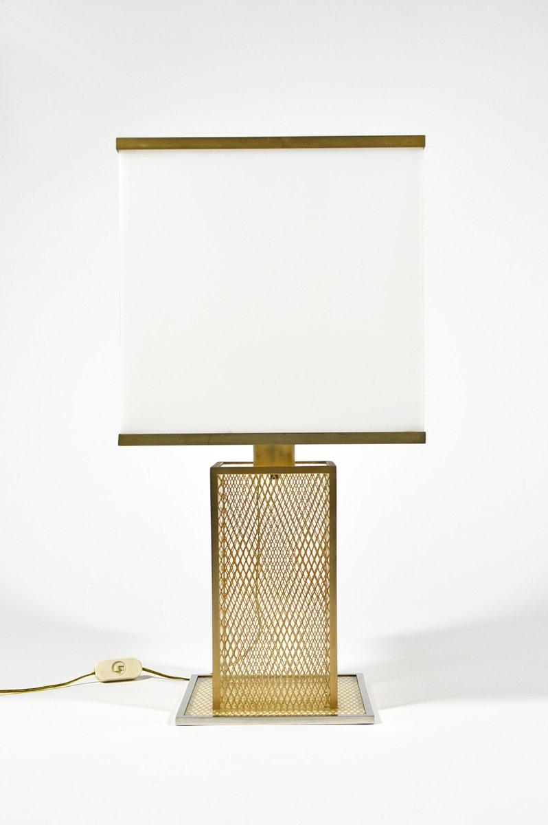 Lampada da tavolo vintage in lucite ottone e metallo - Lampada da tavolo vintage ...