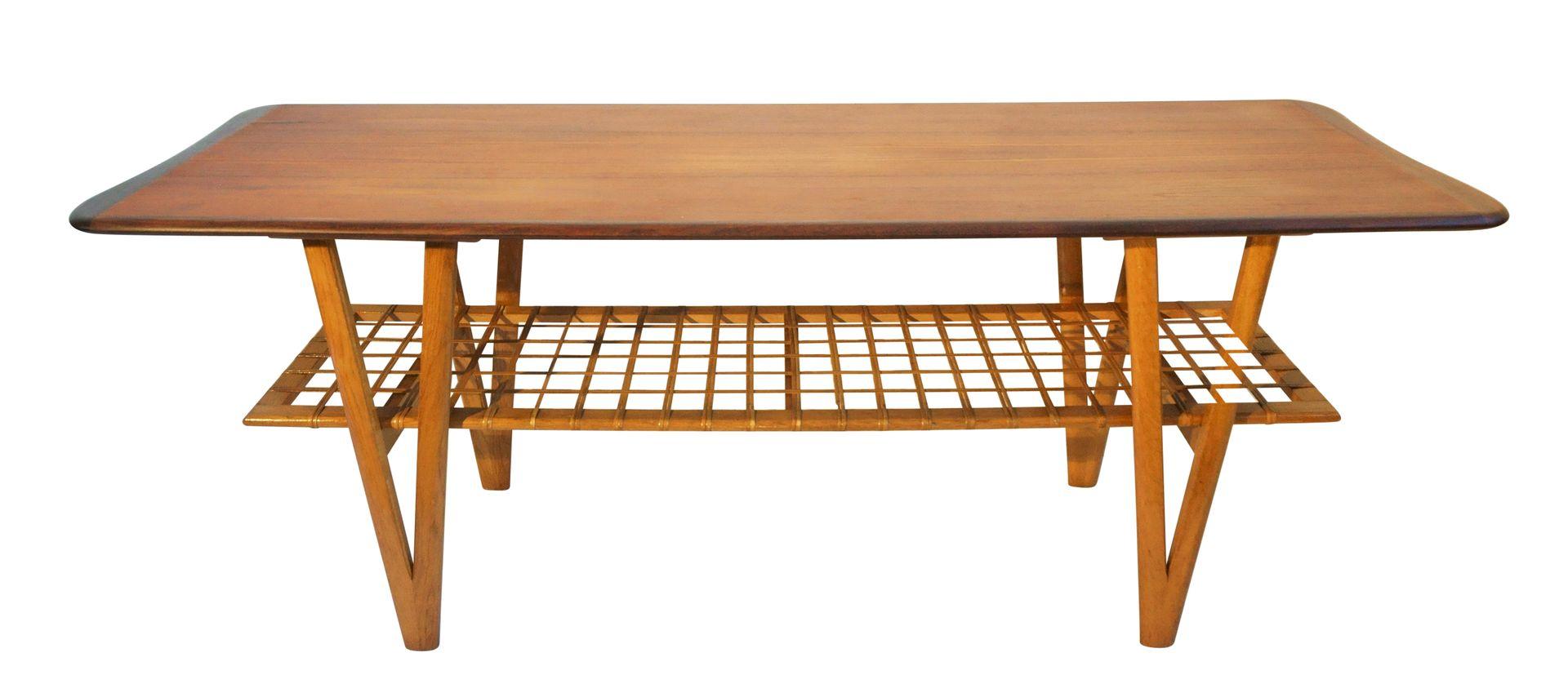 Vintage Danish Teak Coffee Table With V Shaped Legs