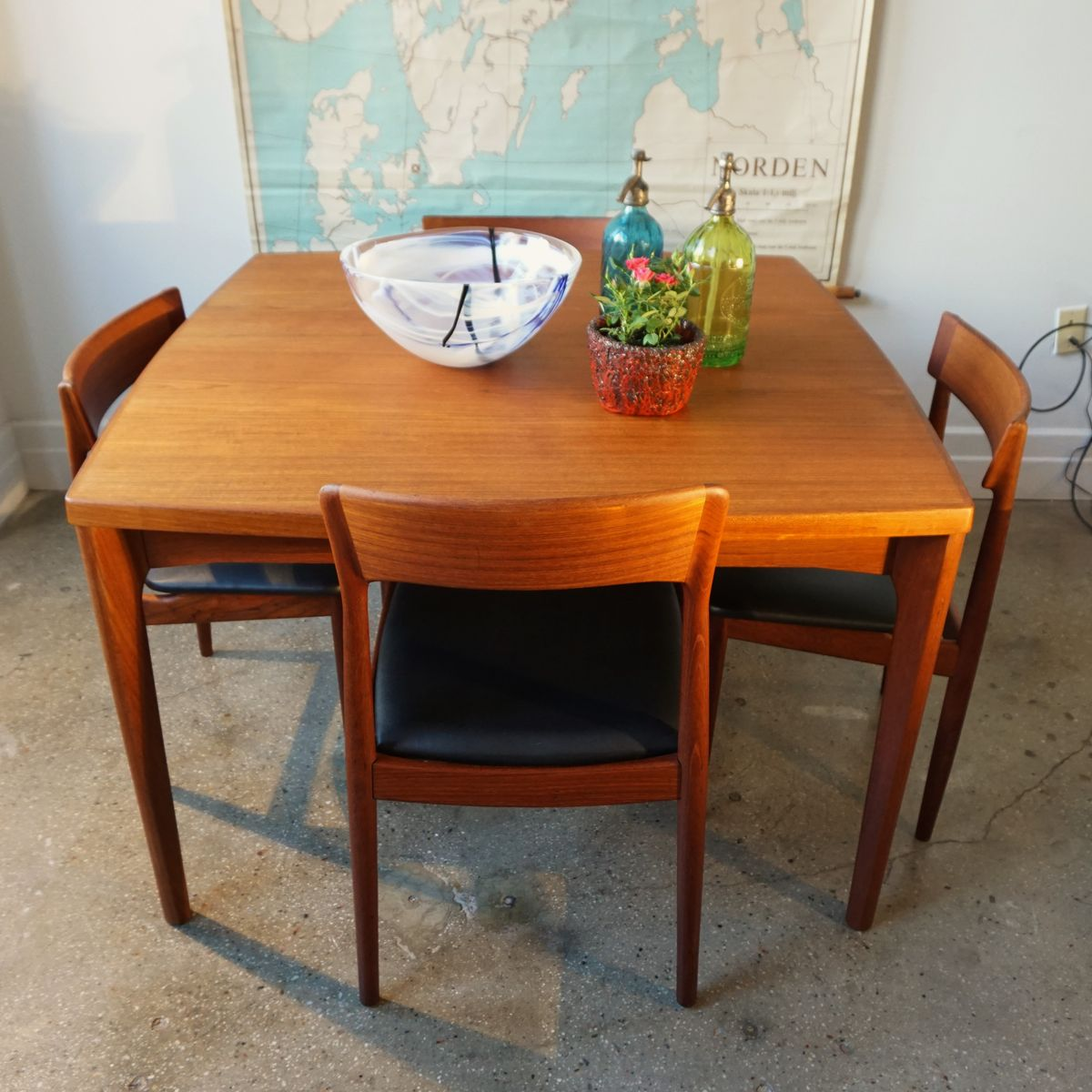 Vintage Extendable Dining Table Vintage Extendable Dining Table By Henning Kjrnulf For Sale At Pamono