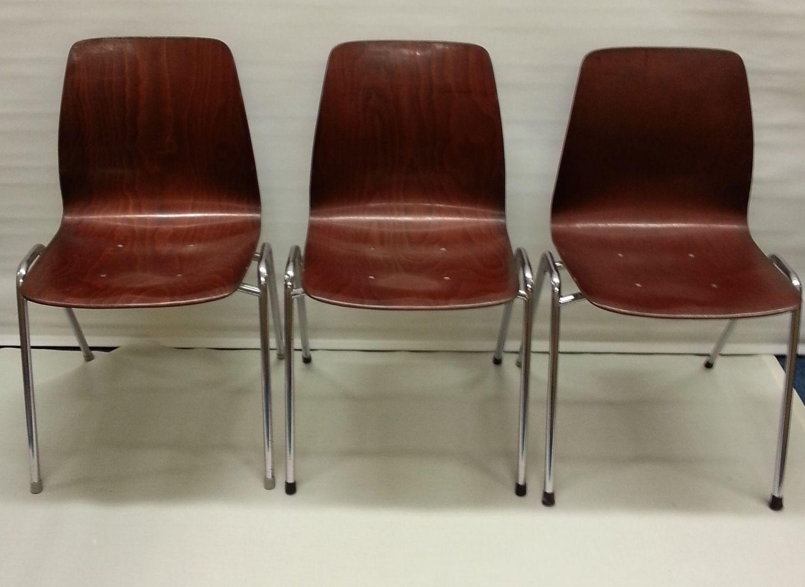 vintage westdeutsche st hle von pagholz 6er set bei. Black Bedroom Furniture Sets. Home Design Ideas
