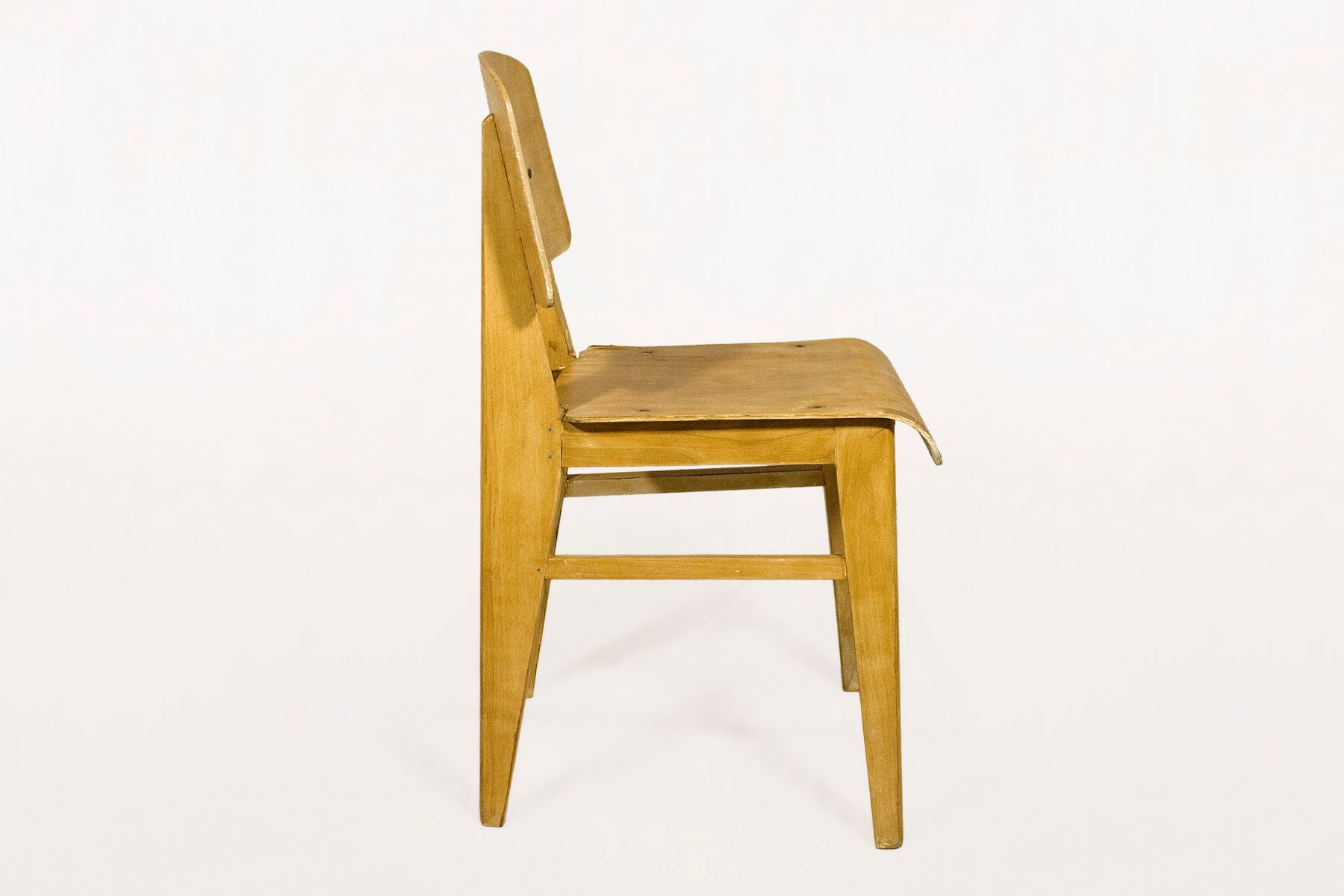 French wooden standard chair by jean prouv 1940s for - Jean prouve chaise standard ...