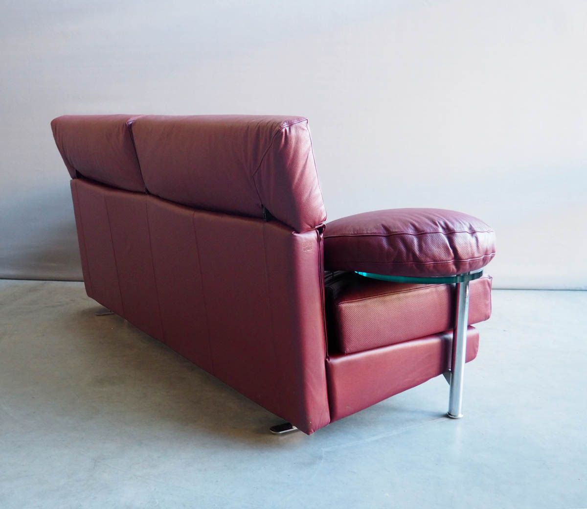 Vintage Red Leather Arca Sofa By Paolo Piva For B B Italia