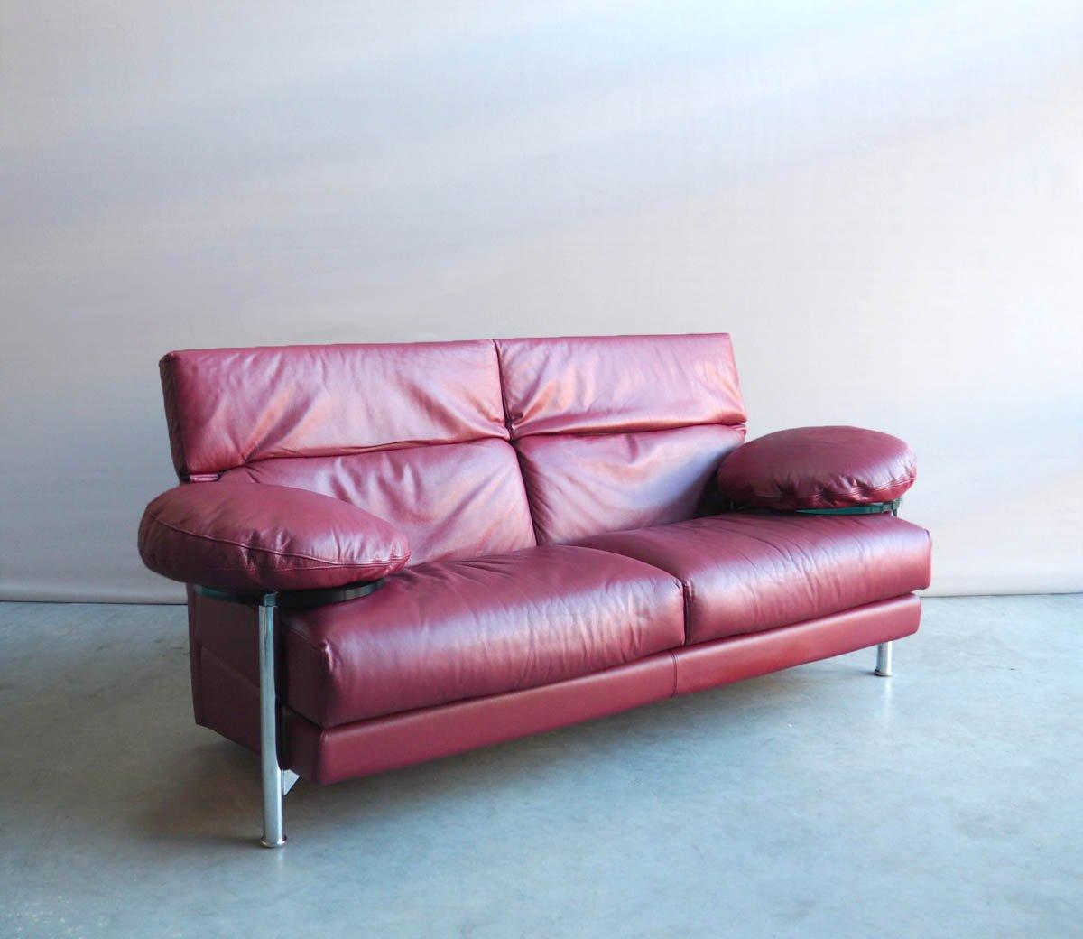 rotes vintage arca ledersofa von paolo piva f r b b italia bei pamono kaufen. Black Bedroom Furniture Sets. Home Design Ideas