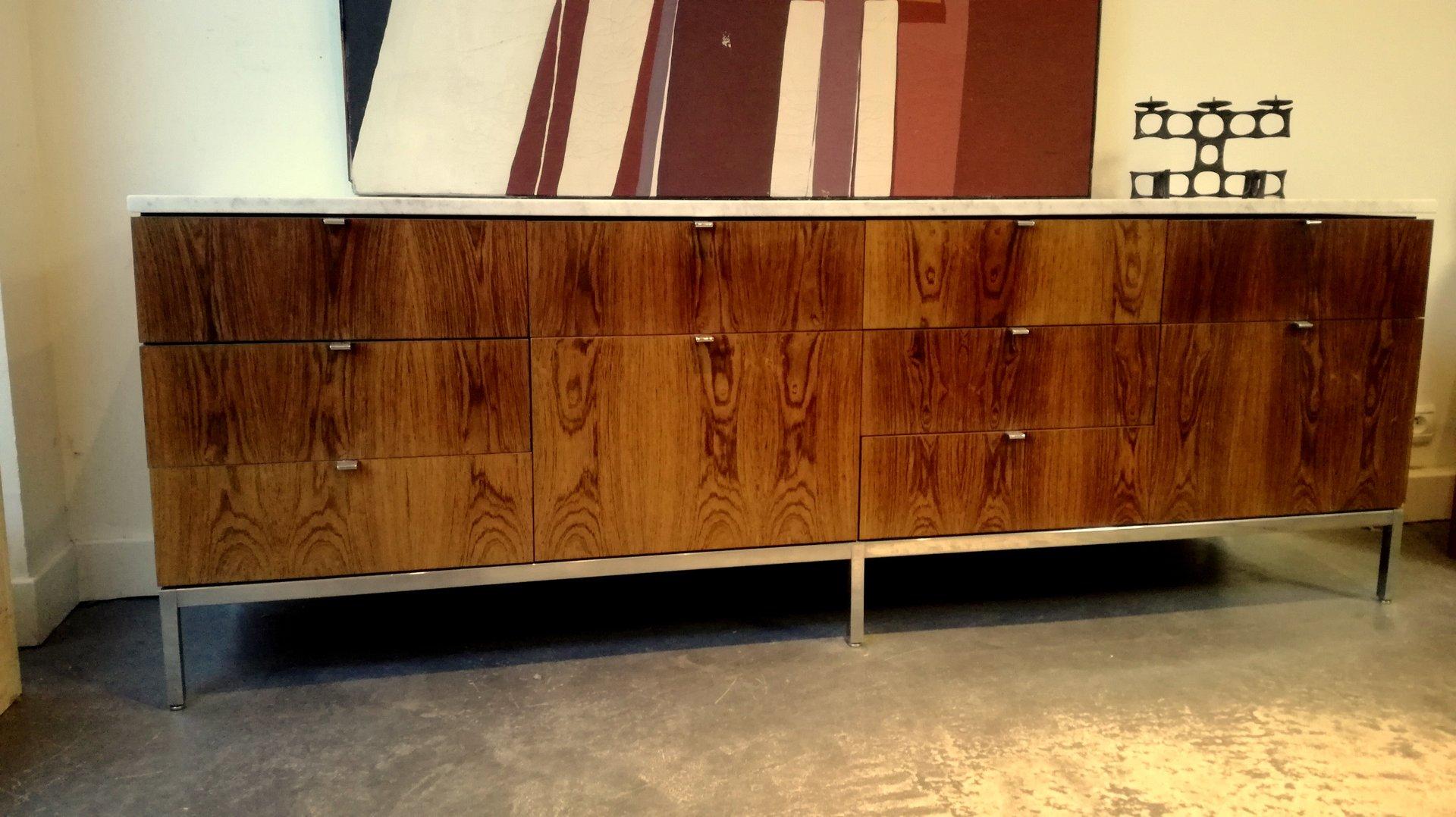 vintage palisander sideboard by florence knoll for sale at. Black Bedroom Furniture Sets. Home Design Ideas