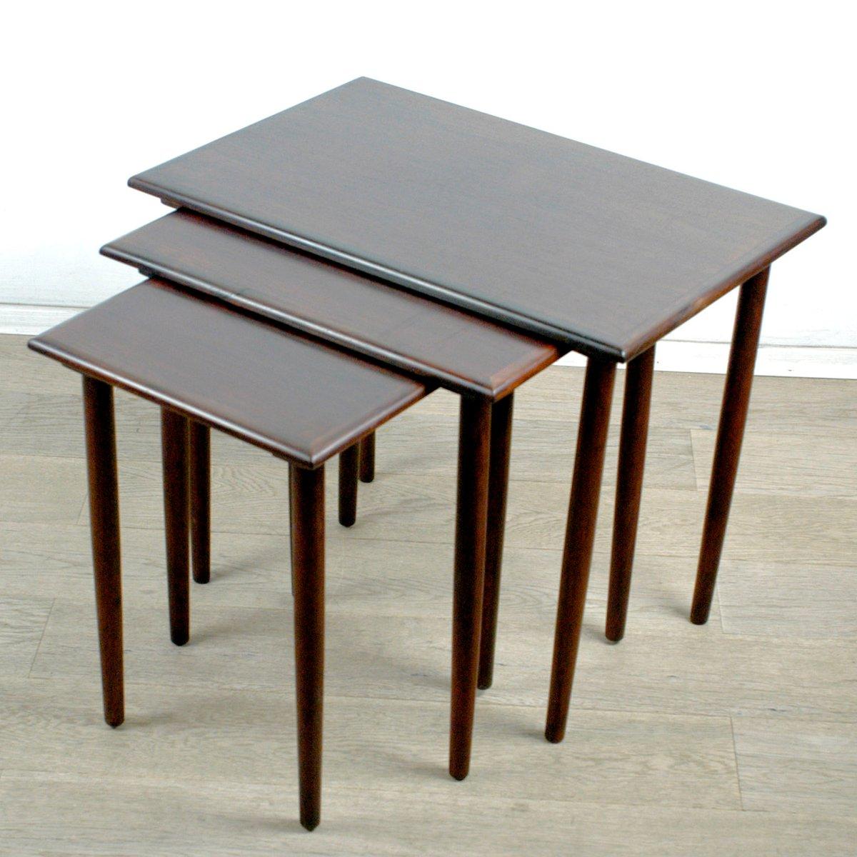 danish modern rosewood nesting tables set of . danish modern rosewood nesting tables set of  for sale at pamono