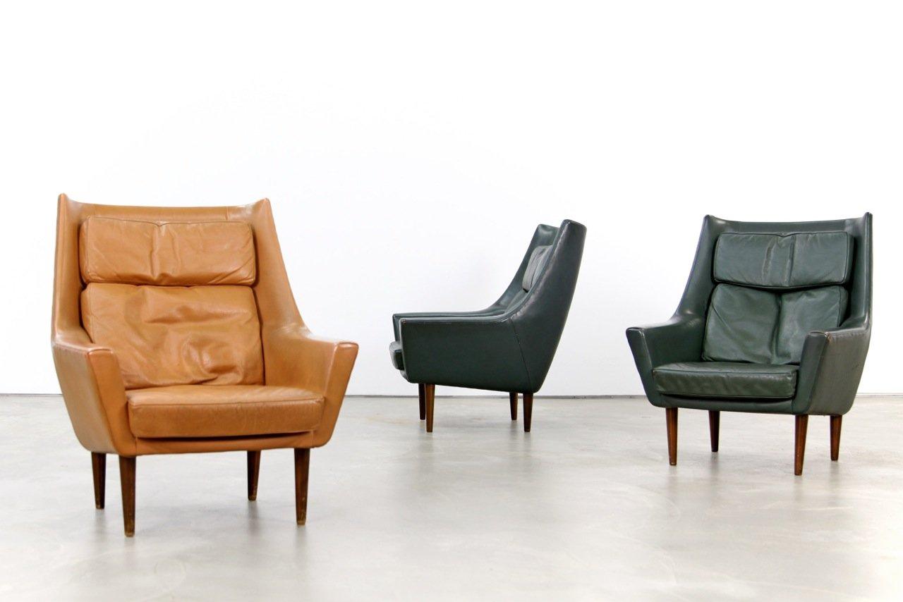 d nischer cognac farbener vintage ledersessel bei pamono kaufen. Black Bedroom Furniture Sets. Home Design Ideas