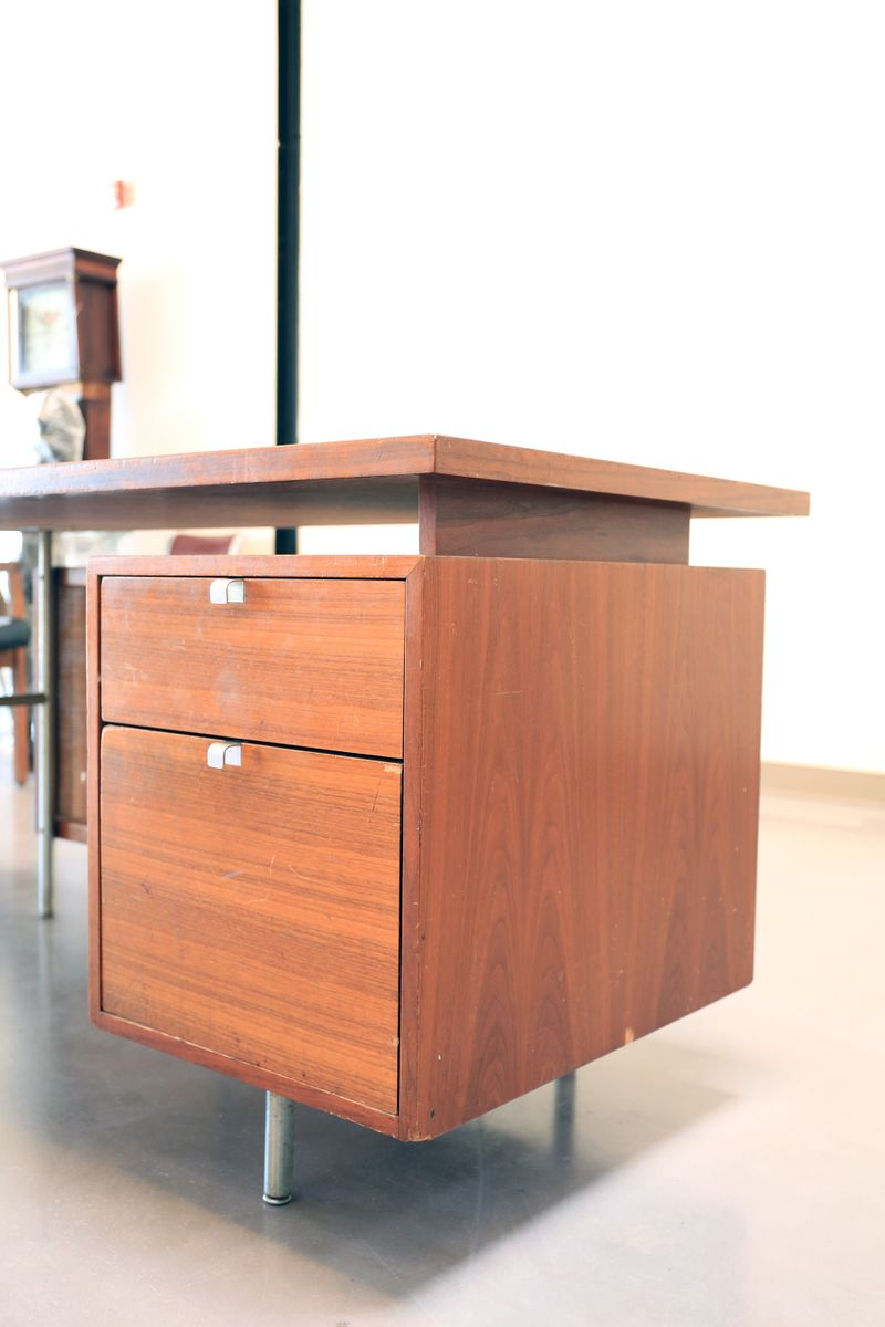Mid century floating executive desk by george nelson for for Floating desk for sale