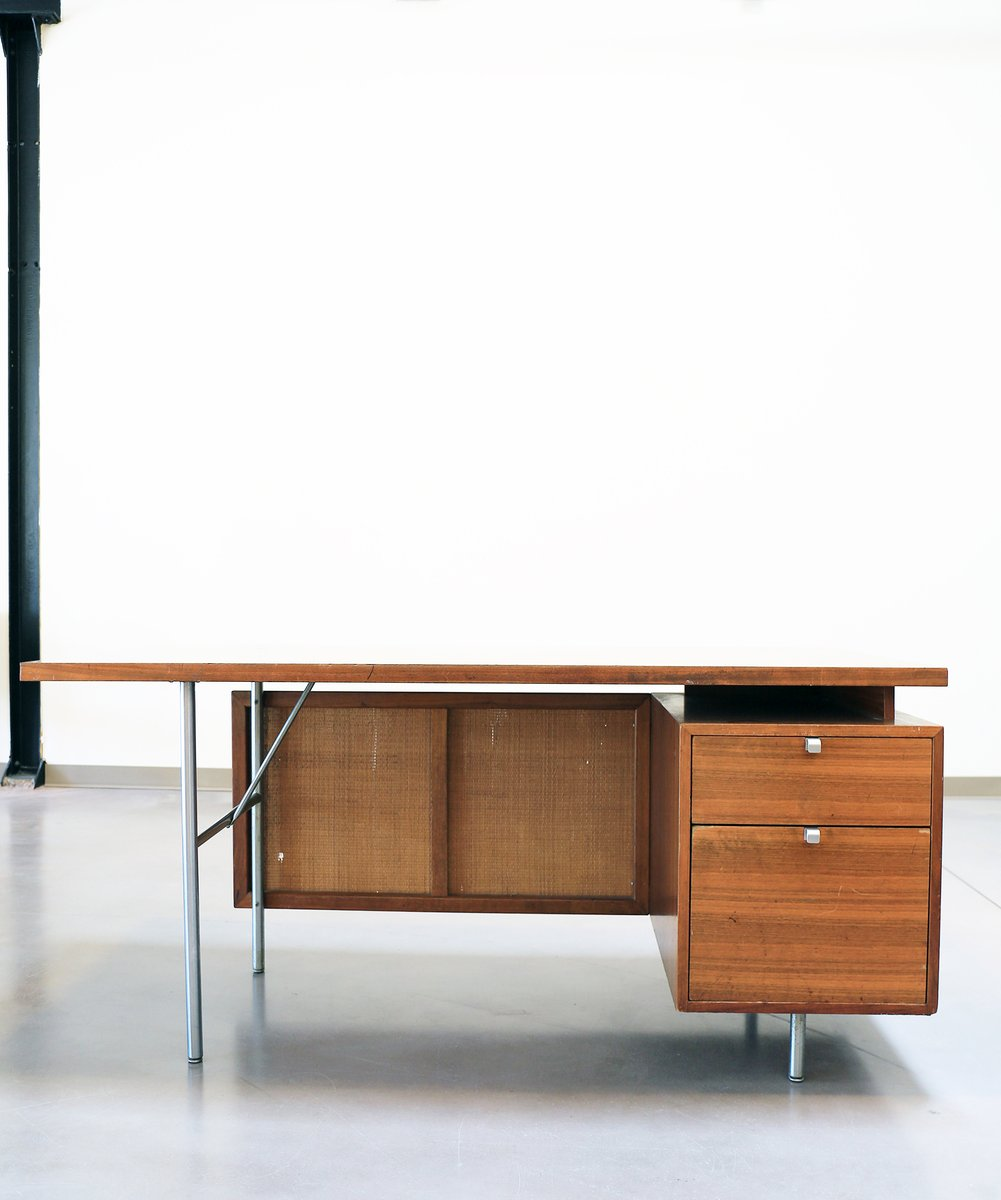 Mid century floating executive desk by george nelson for herman miller for sa - Herman miller france ...