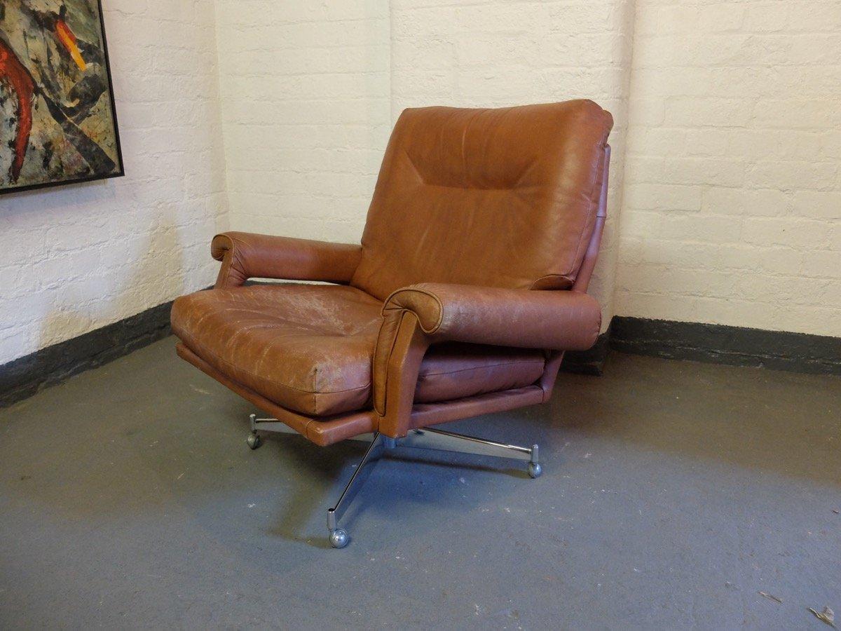 leder drehsessel von howard keith 1960er bei pamono kaufen. Black Bedroom Furniture Sets. Home Design Ideas