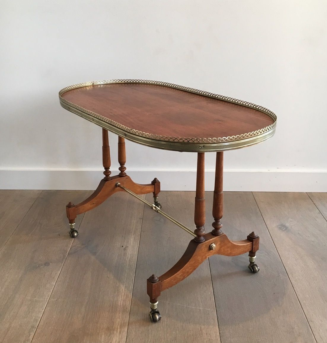 Small Neoclassical Oval Coffee Table 1940s for sale at Pamono