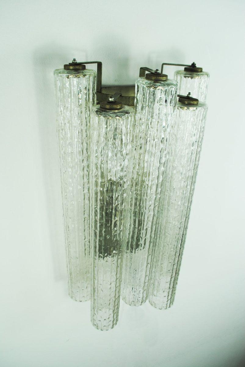 Lampade da parete di toni zuccheri per venini anni 39 60 set di 2 in vendita su pamono - Lampade da parete di design ...