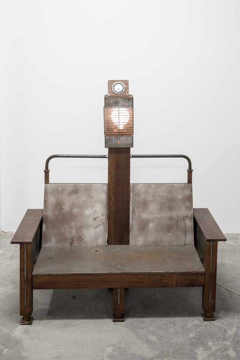 - Vintage Electric Chair Film Prop & Propeller Wall For Sale At Pamono