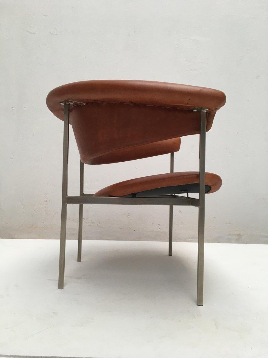 Leather Gamma Easy Chair By Rudolf Wolf For Gaasbeek U0026 Van Tiel, 1960s