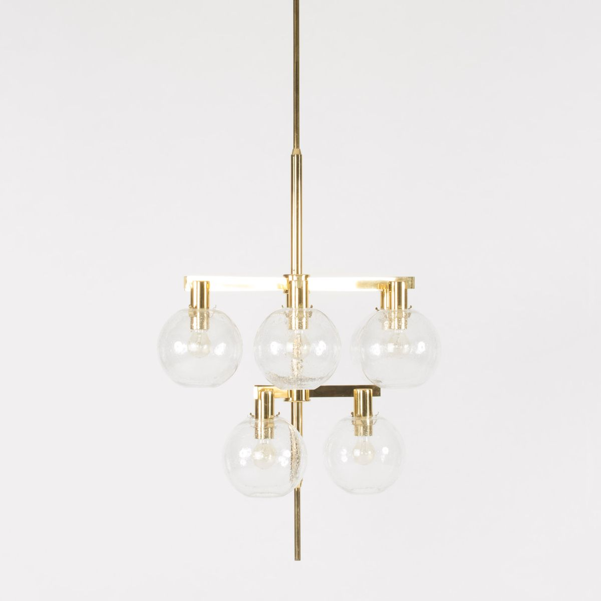 Brass and glass chandelier from hans agne jakobsson 1960s for brass and glass chandelier from hans agne jakobsson 1960s arubaitofo Images