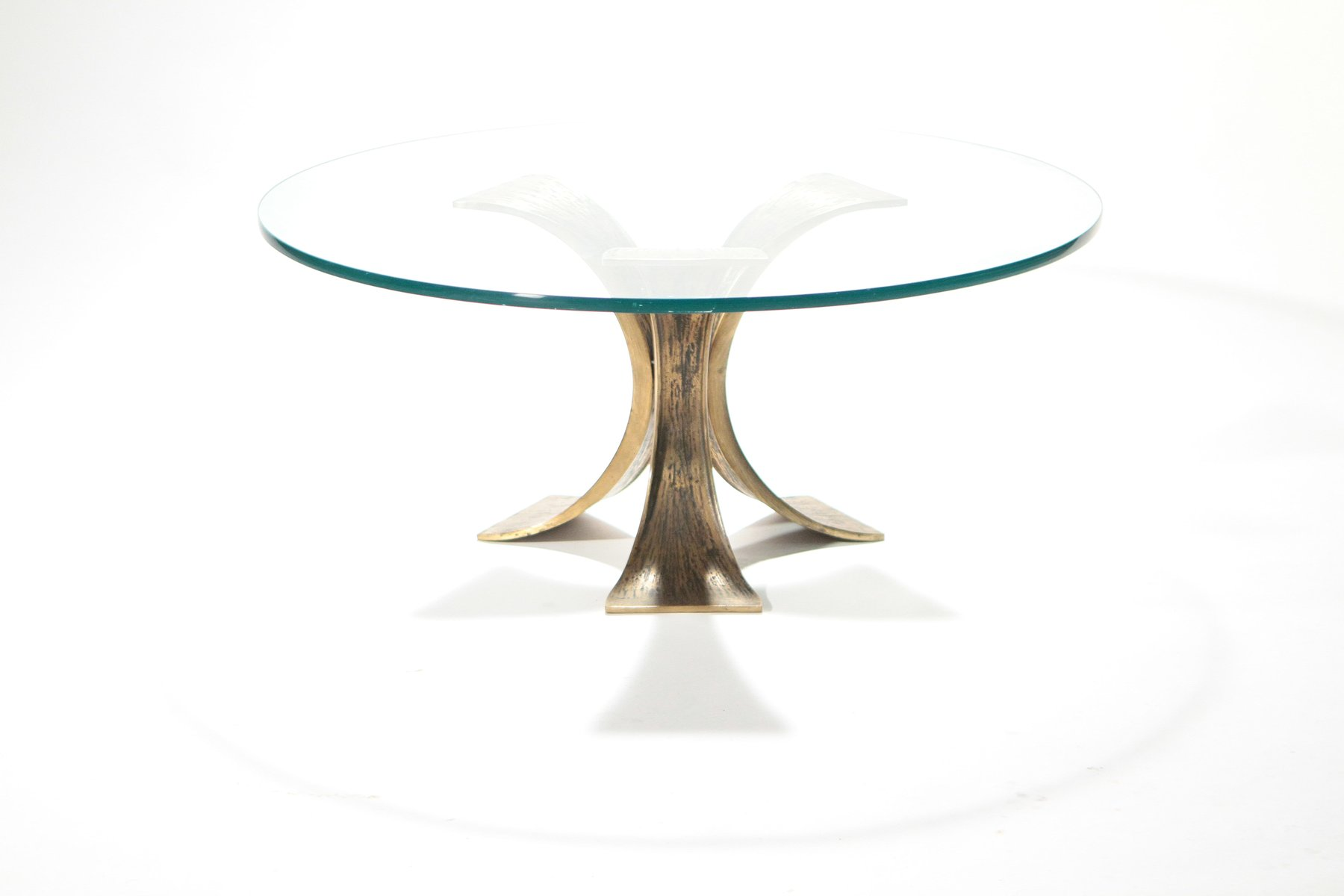 Belgian Glass Bronze Coffee Table 1970s For Sale At Pamono