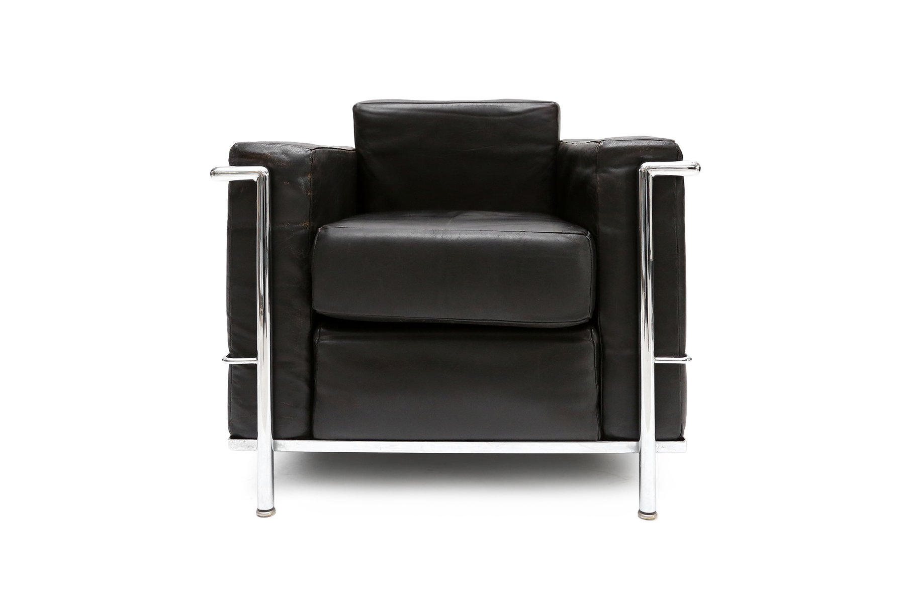 Le corbusier chair vintage - Vintage Lc 2 Armchair By Le Corbusier Jeanneret And Perriand For Cassina