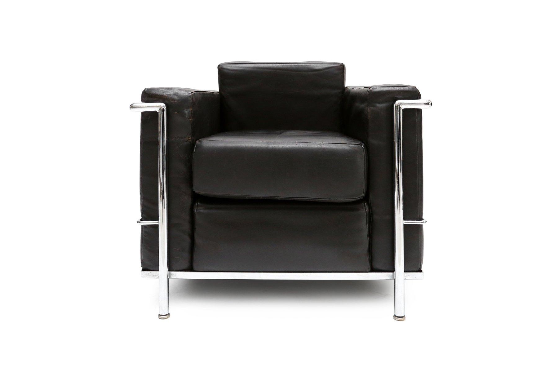 Vintage LC2 Armlehnstuhl von Le Corbusier, Jeanneret und Perriand ...