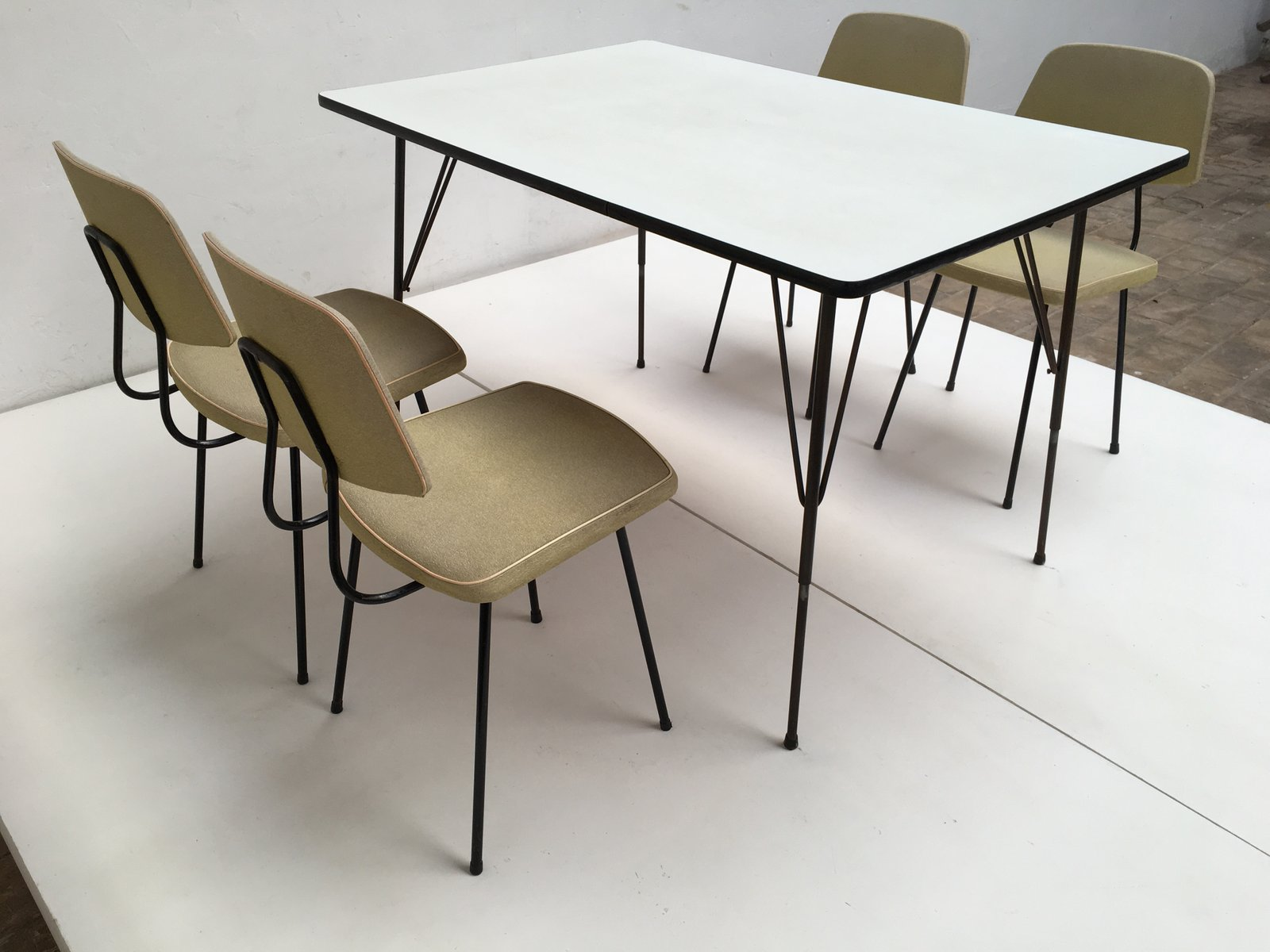 Dining Set By Rudolf Wolf For Elsrijk Steel Furniture, 1950s