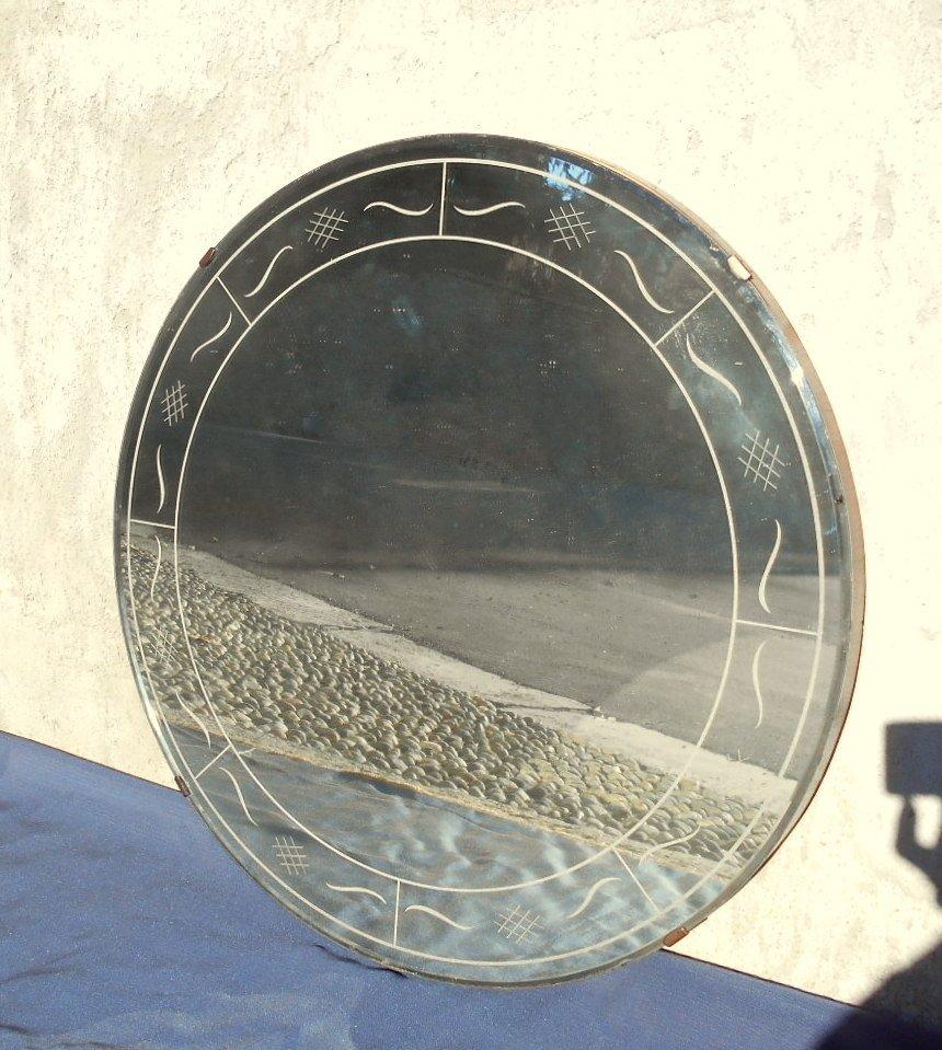 italienischer art deco spiegel von fontana arte 1930er bei pamono kaufen. Black Bedroom Furniture Sets. Home Design Ideas