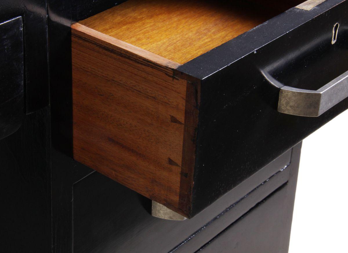 schwarzer art deco schreibtisch 1930er bei pamono kaufen. Black Bedroom Furniture Sets. Home Design Ideas