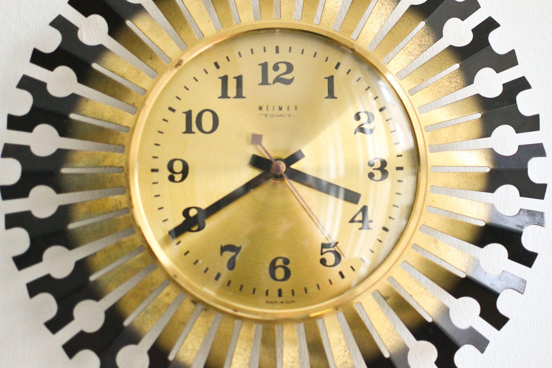 vintage weimar starburst wall clock