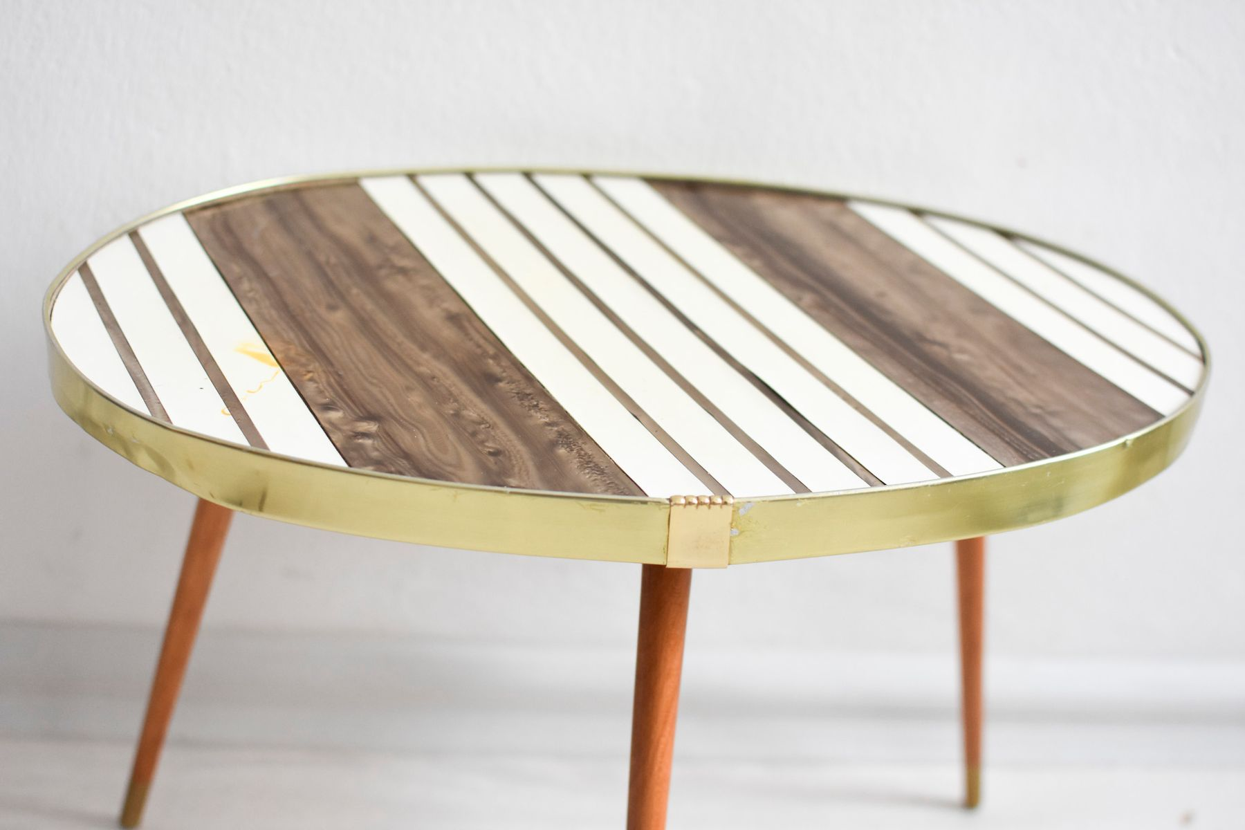 vintage wood and formica coffee table for sale at pamono for