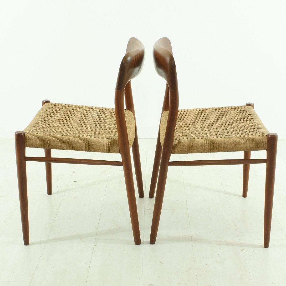 vintage st hle modell 75 von niels m ller f r j l m llers. Black Bedroom Furniture Sets. Home Design Ideas