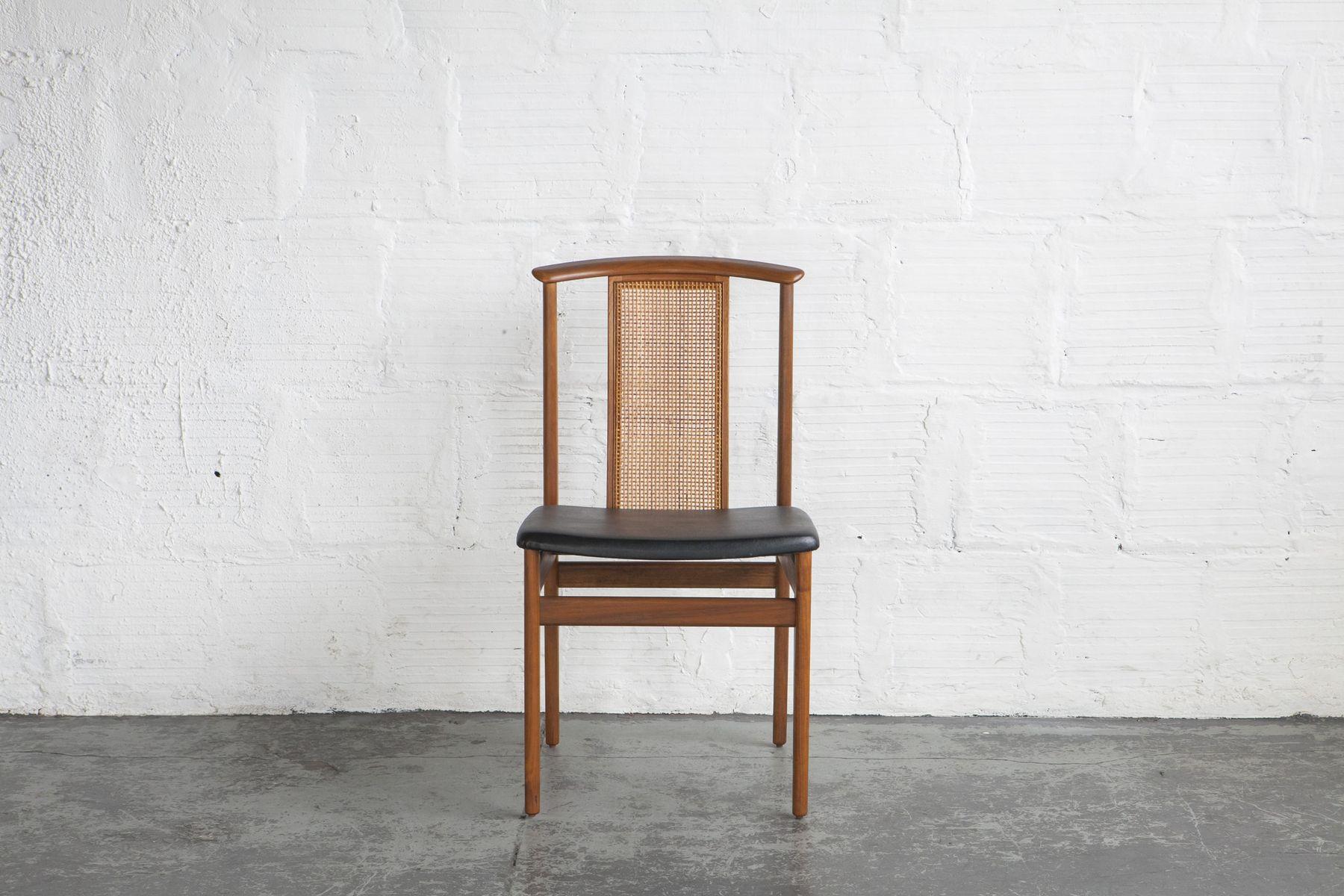rattan esszimmerst hle von dux 1960er 6er set bei pamono. Black Bedroom Furniture Sets. Home Design Ideas