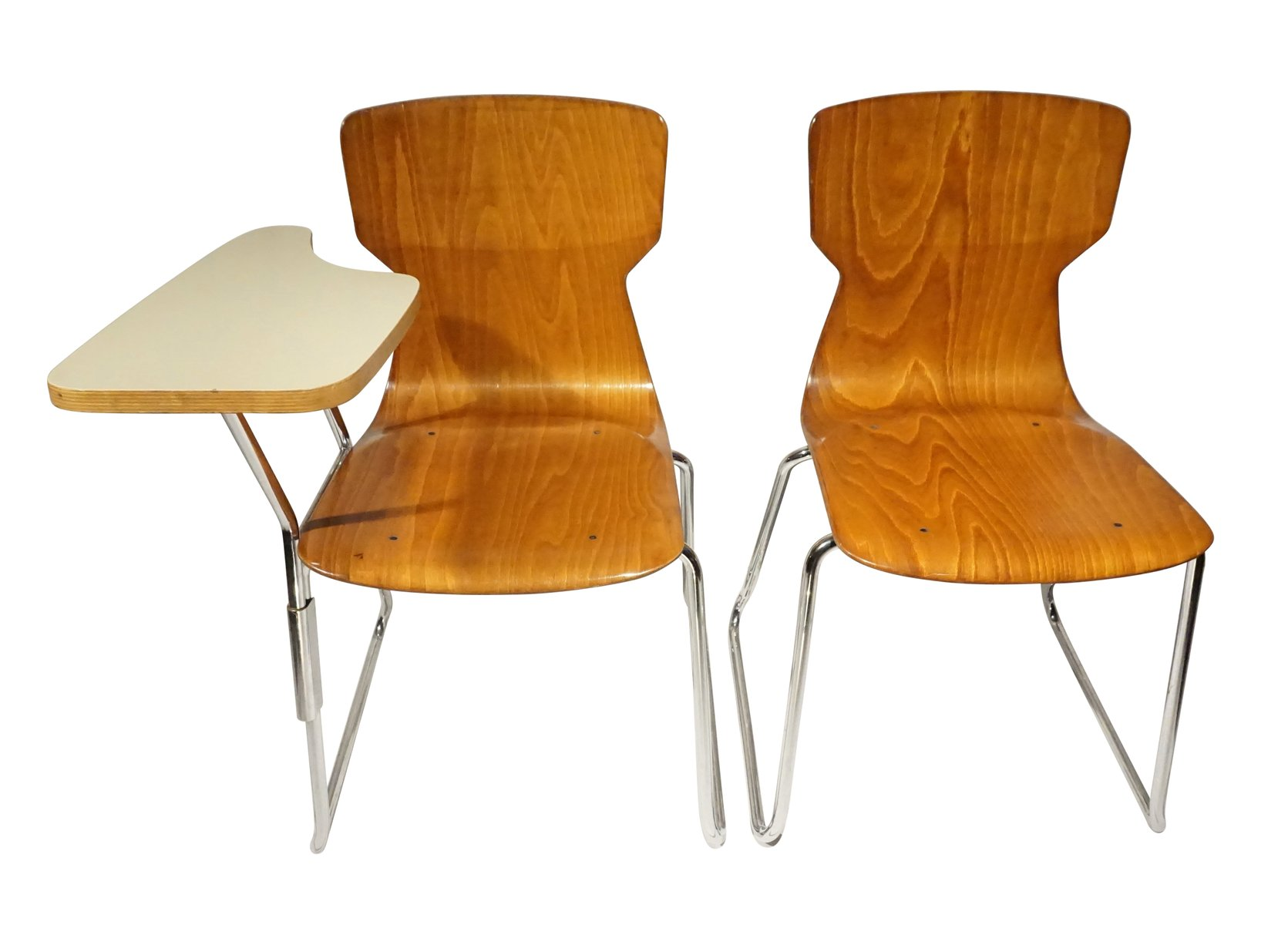 Danish School Chairs Set of 2 for sale at Pamono