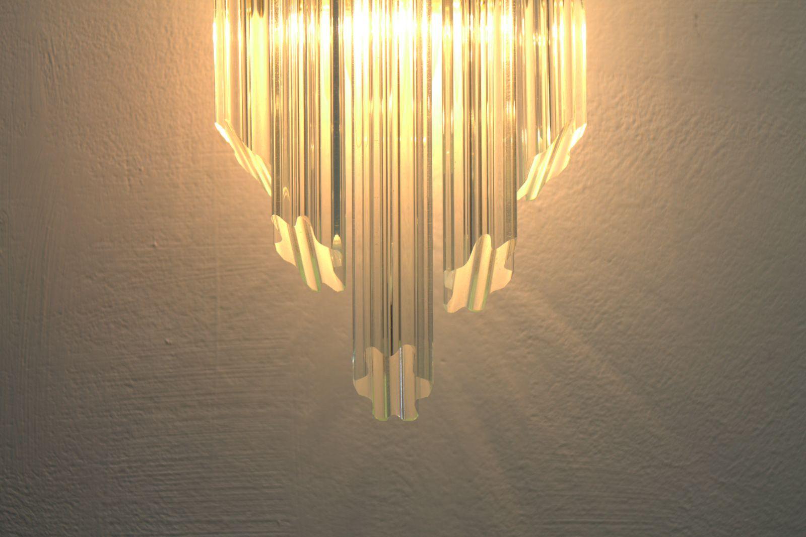 Murano Glass Wall Lamps : Italian Murano Glass & Gilded Metal Wall Lamps, 1970s, Set of 2 for sale at Pamono