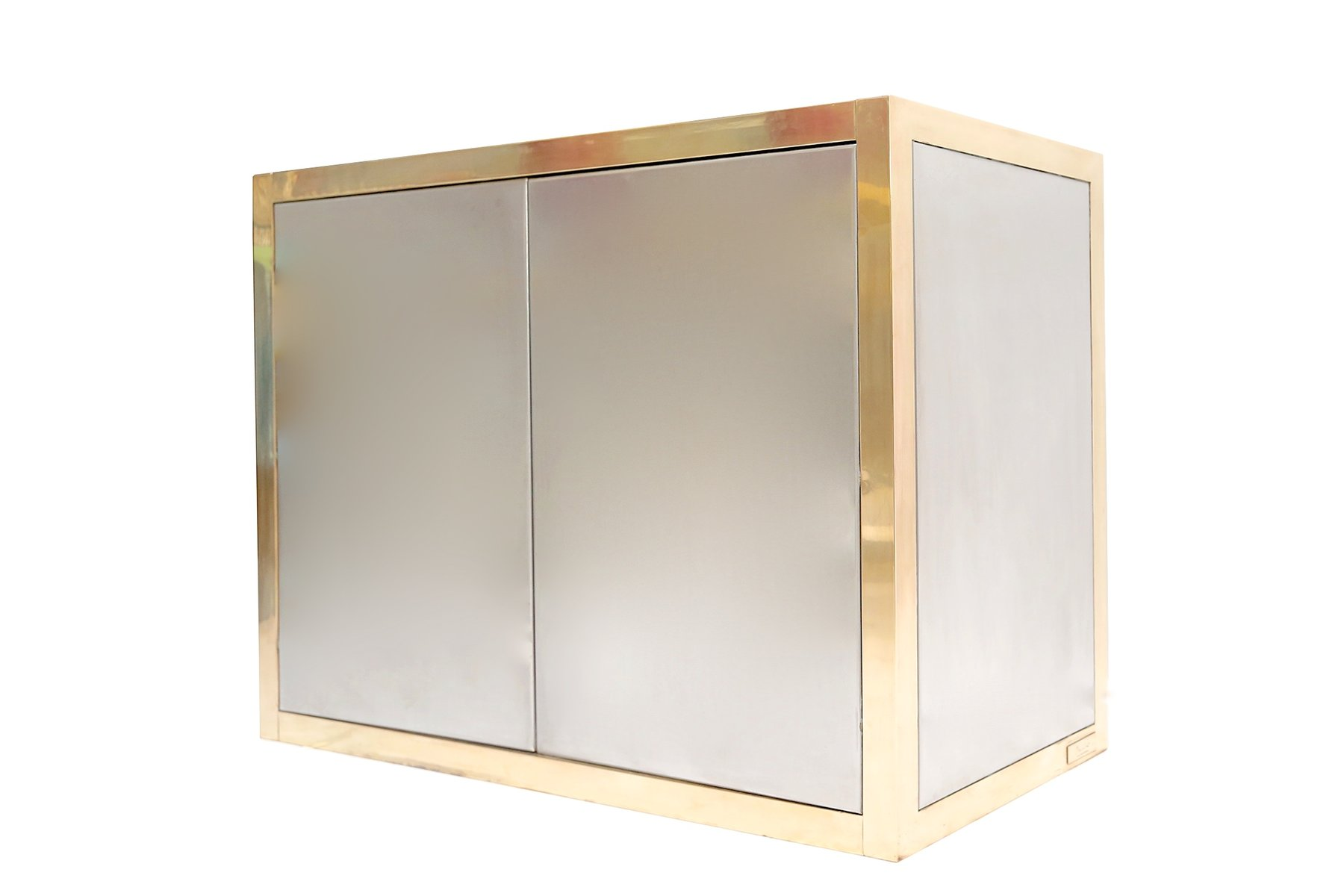 brass aluminum cabinet by axel vervoordt 1970s for sale. Black Bedroom Furniture Sets. Home Design Ideas