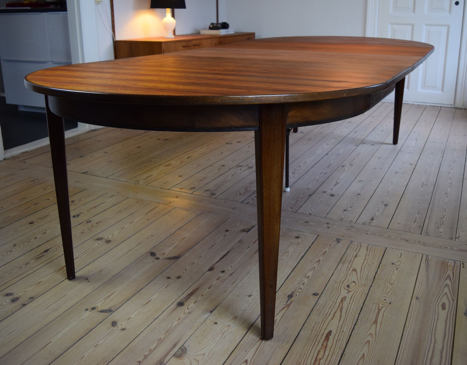 Model 55 Rosewood Dining Table by Gunni Omann for Omann Jun, 1960s ...