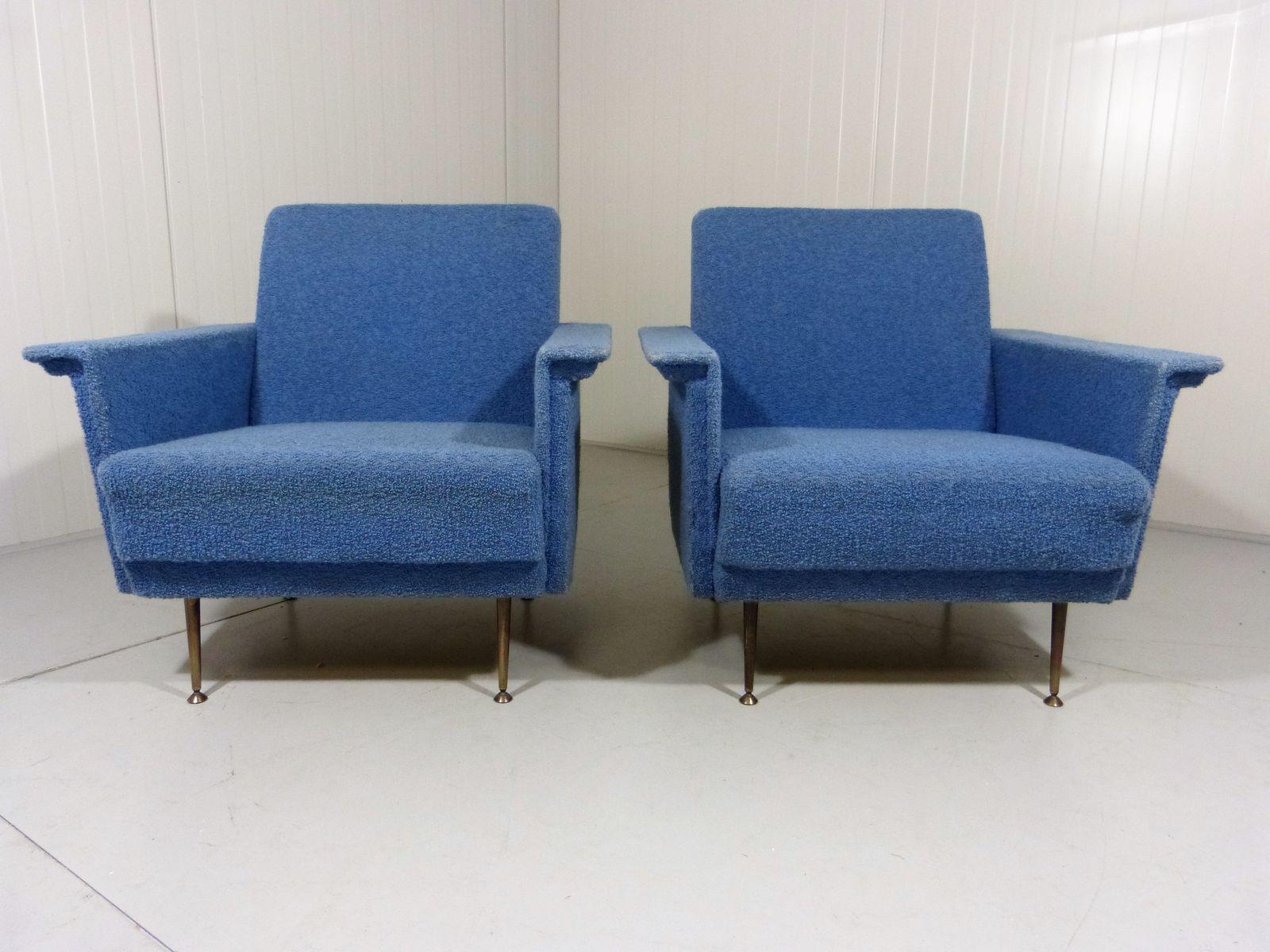 blaue sessel 1950er 2er set bei pamono kaufen. Black Bedroom Furniture Sets. Home Design Ideas