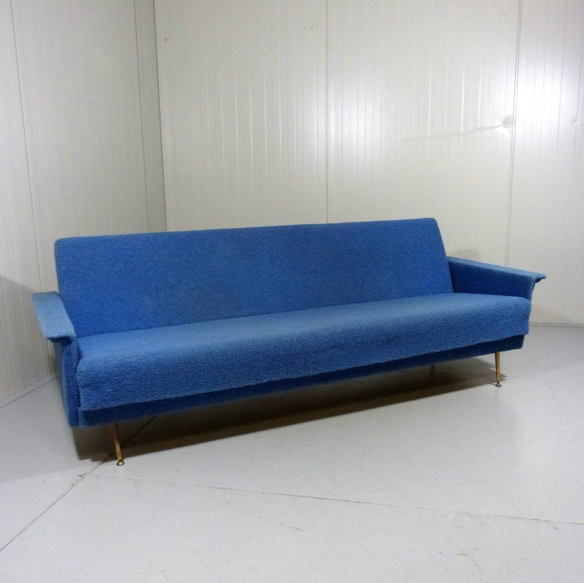 blaues schlafsofa 1950er bei pamono kaufen. Black Bedroom Furniture Sets. Home Design Ideas