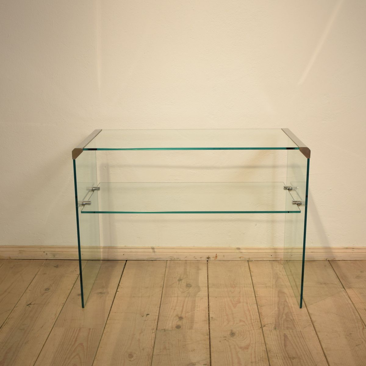 Glass console table from galotti radice 1980s for sale for Sofa table rules