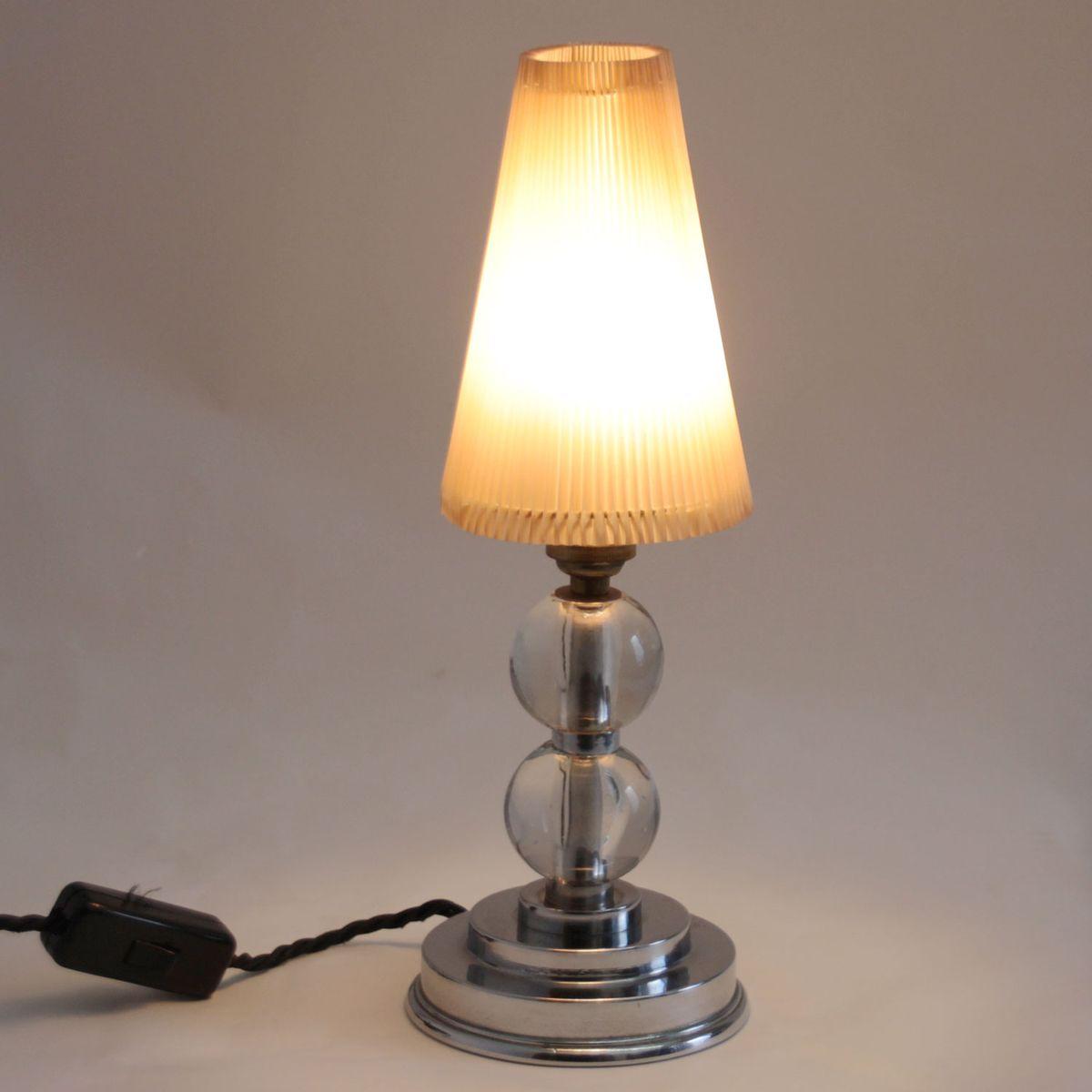 mid century modern tischlampe mit glasgestell bei pamono kaufen. Black Bedroom Furniture Sets. Home Design Ideas