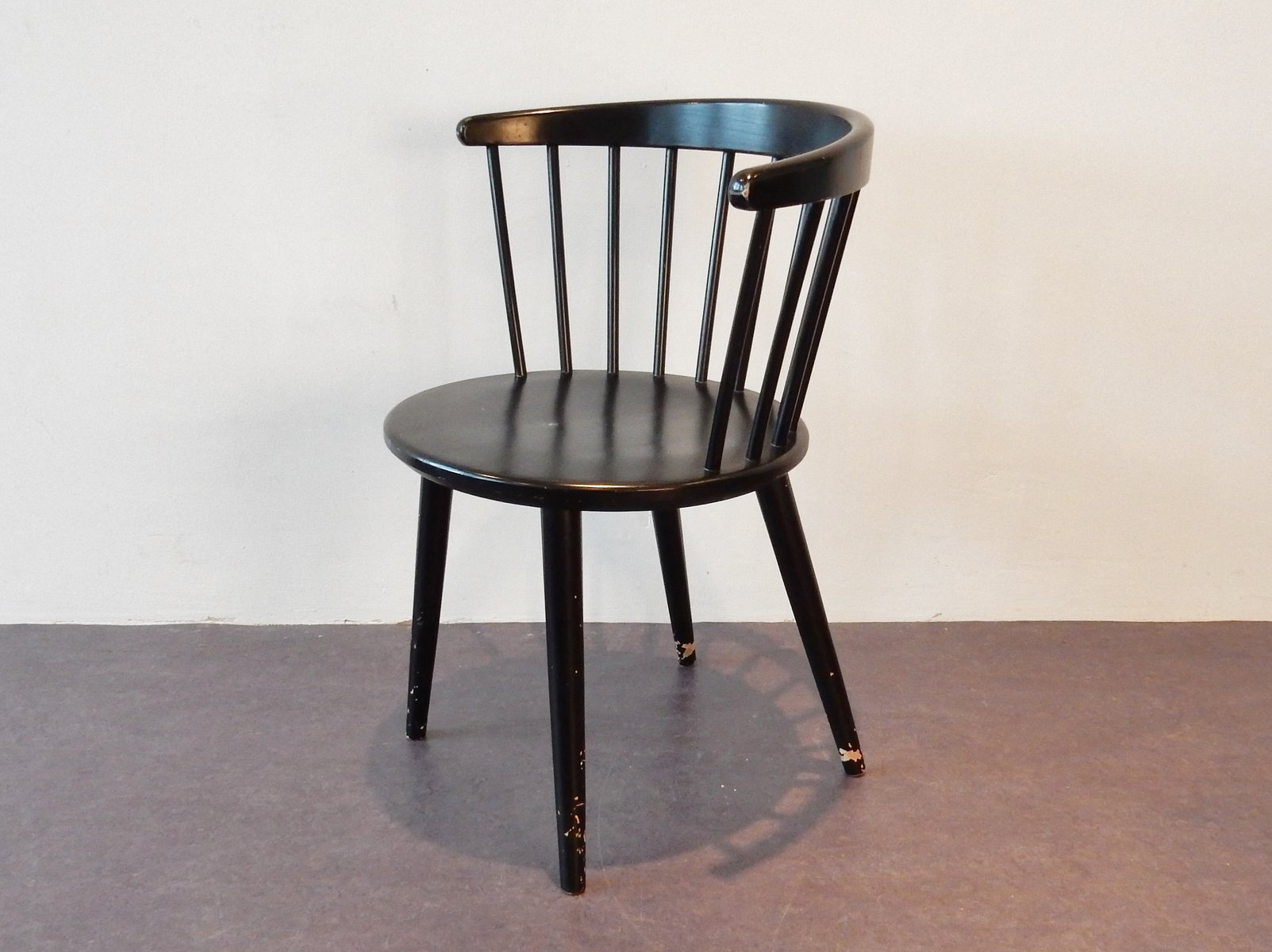Vintage Danish Side Chair by Yngve Ekstrom for Nesto 1960s for
