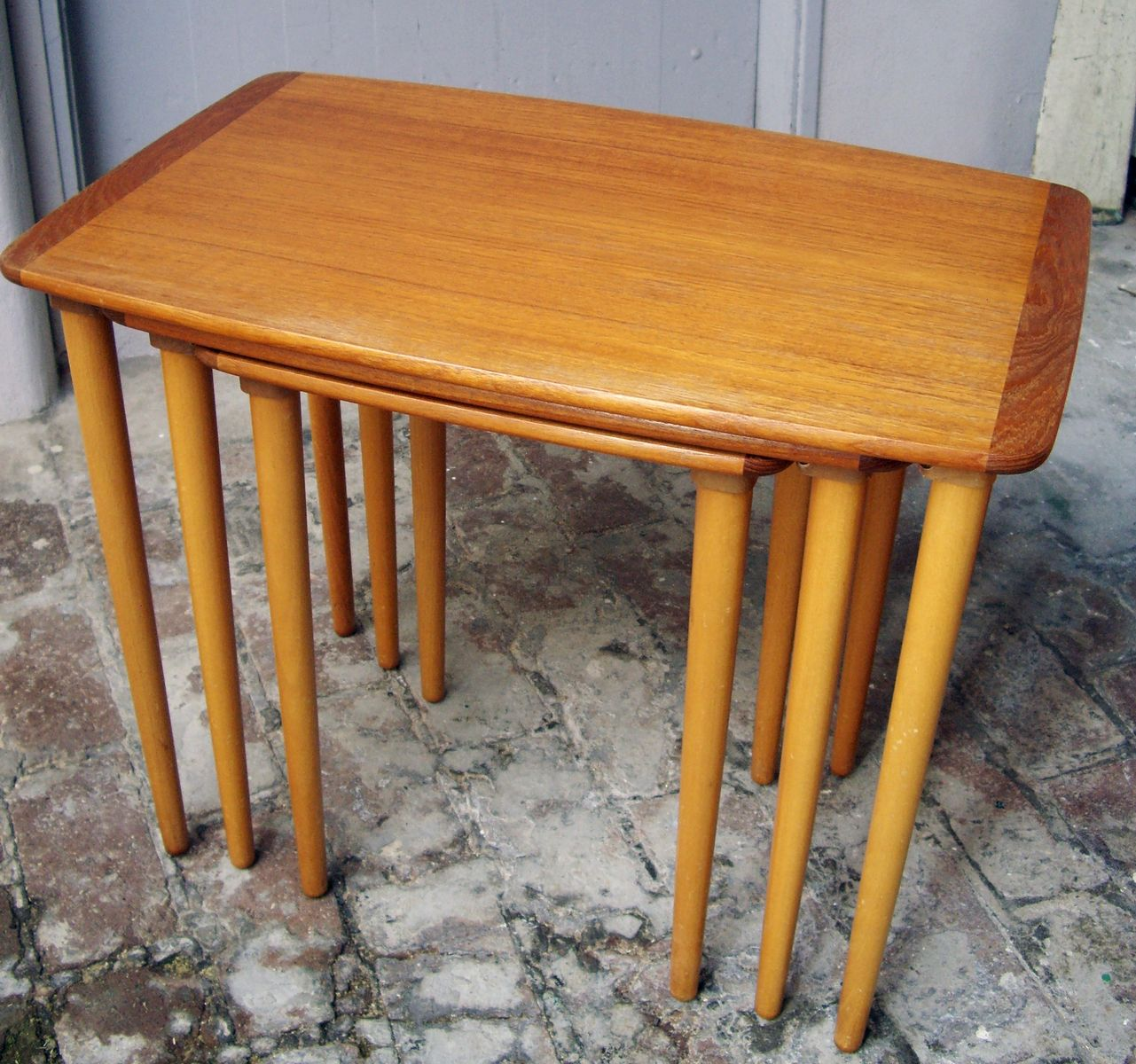 Small nest of three tables 1960s for sale at pamono for Small nest of tables