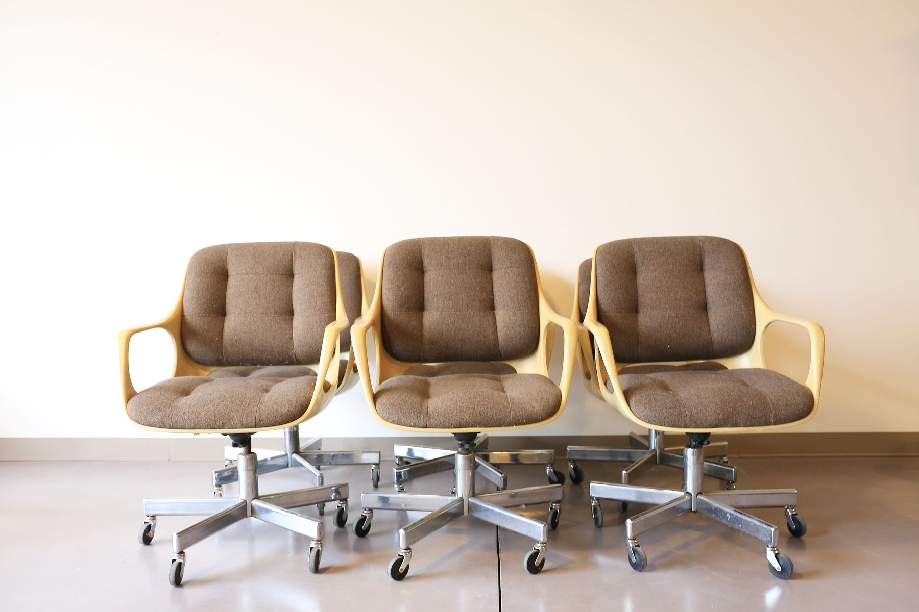 vintage space age office chairs from chromcraft set of 6 for sale at