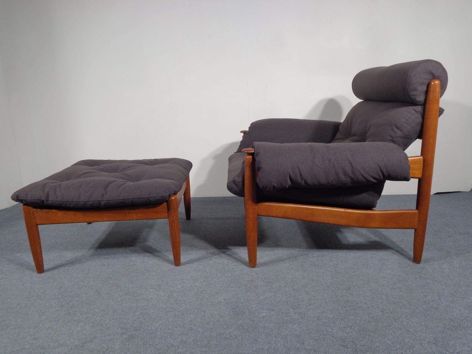 teak chair and ottoman. vintage danish teak chair \u0026 ottoman and e