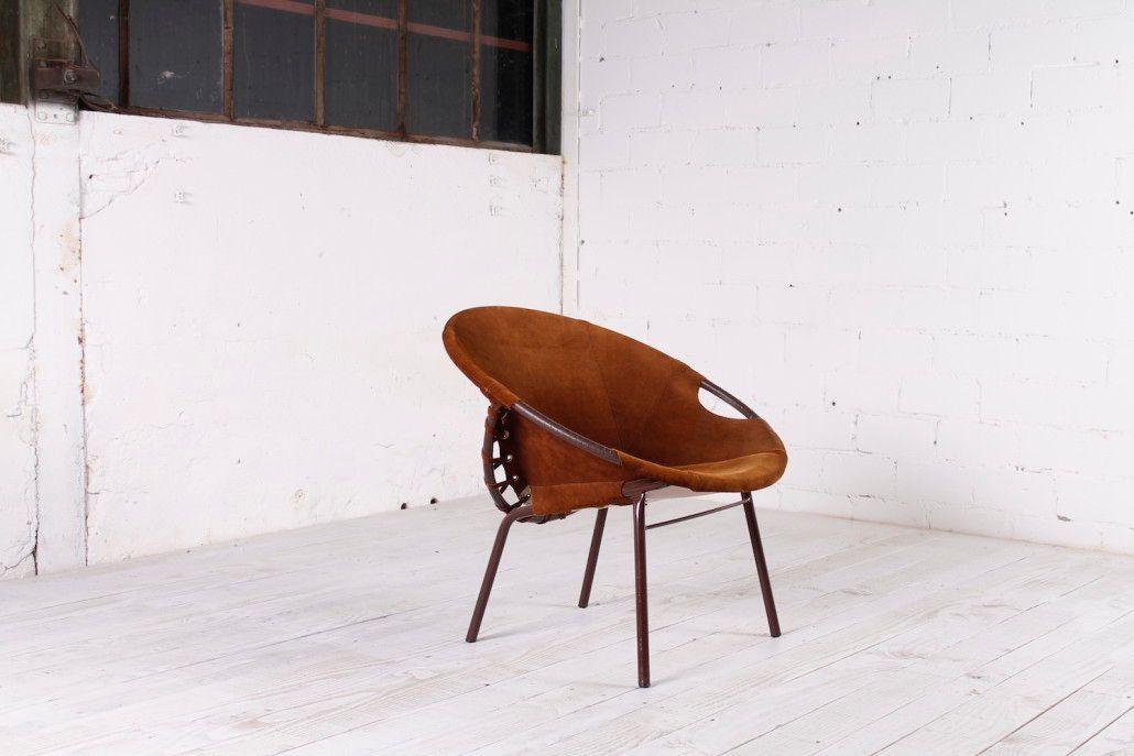 deutscher vintage leder cocktail stuhl 1970er bei pamono. Black Bedroom Furniture Sets. Home Design Ideas