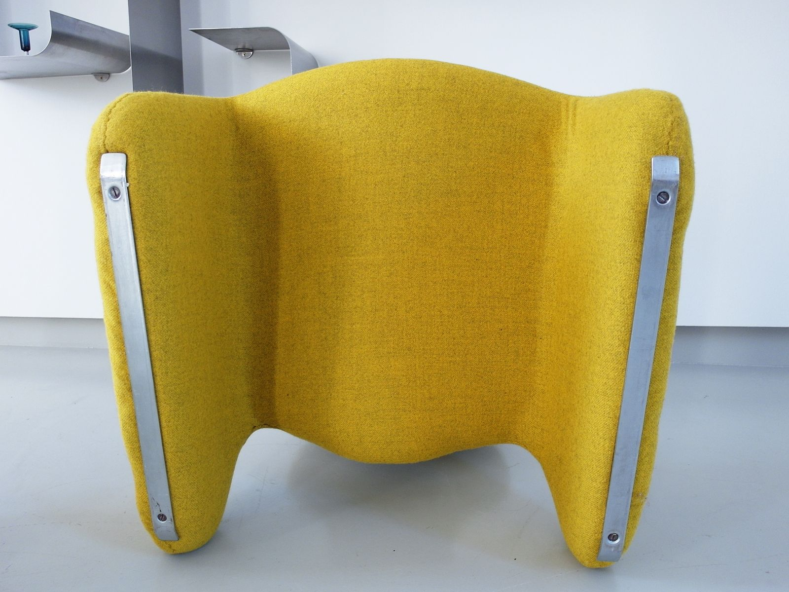 Mid Century Yellow Djinn Chairs by Olivier Mourgue for Airborne