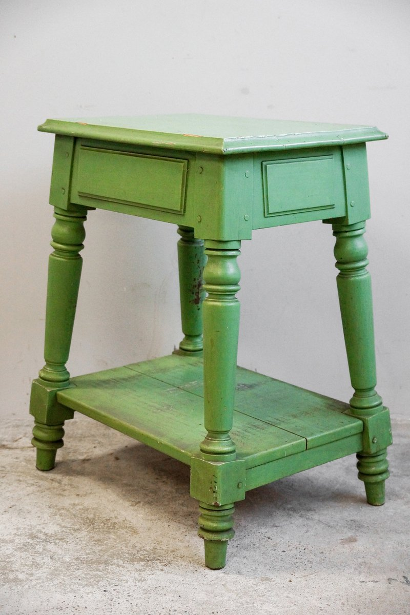 Antique wooden side table th century for sale at pamono