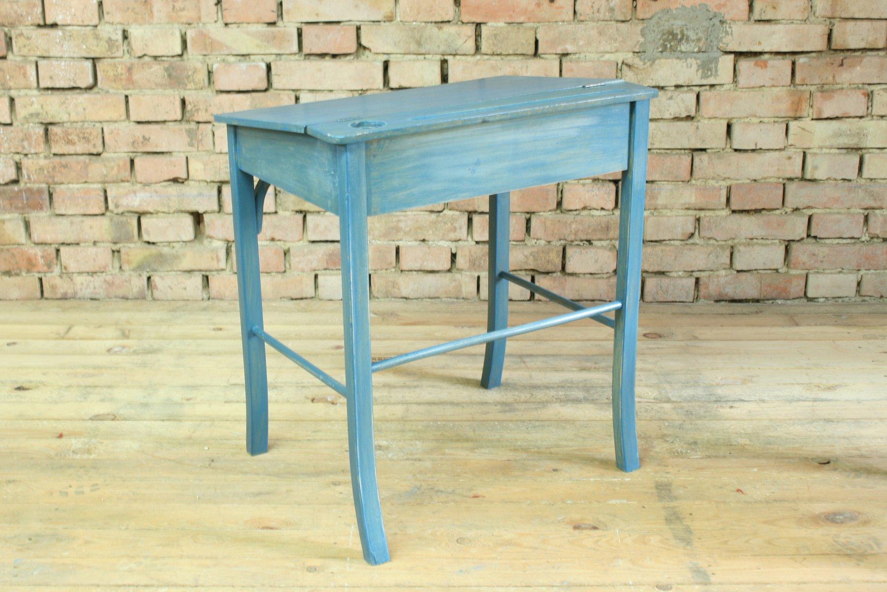 Vintage Wooden School Desk and Chair Set by Baumann and Fischel