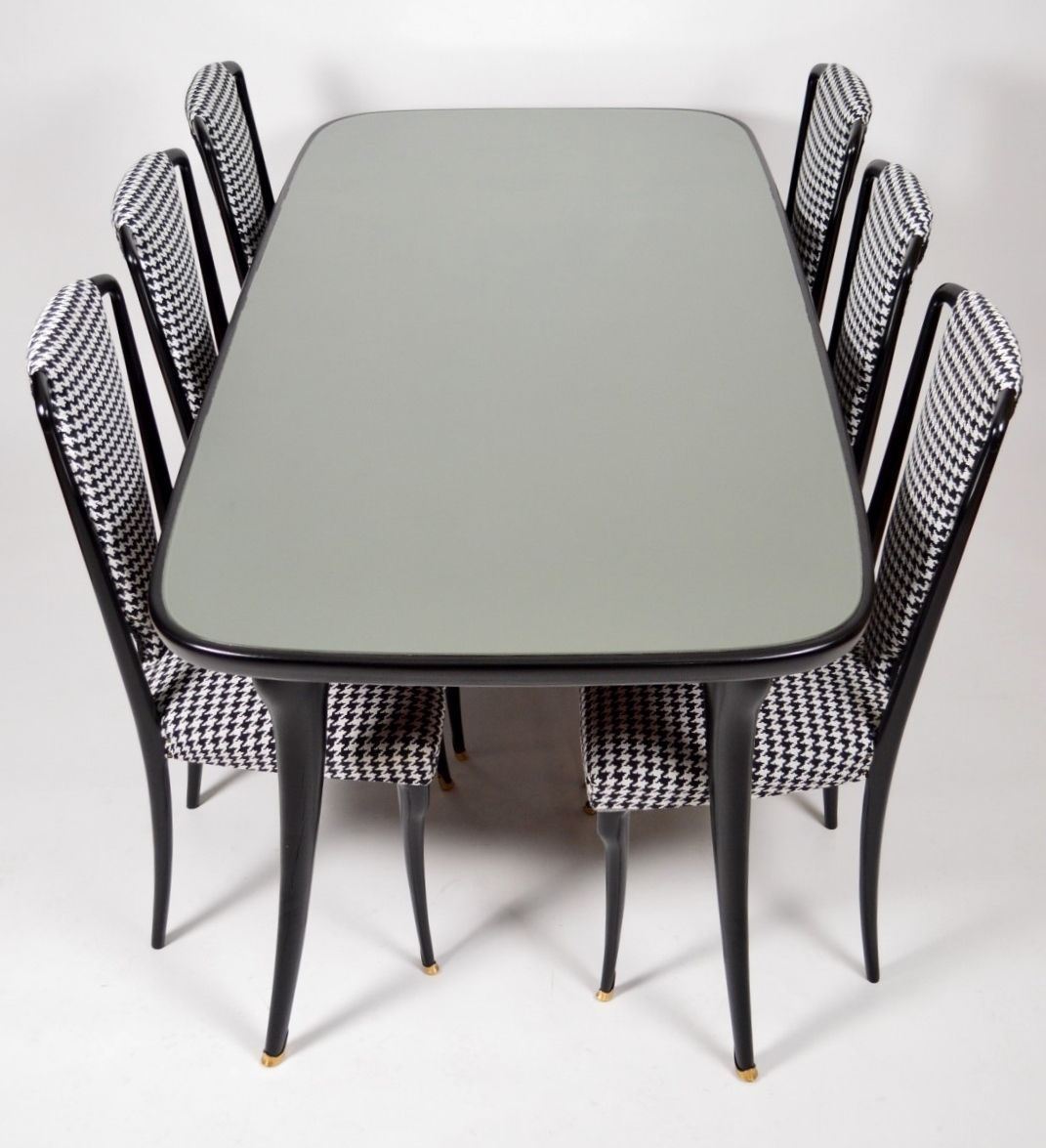 Italian Dining Set With 6 Chairs, 1950s