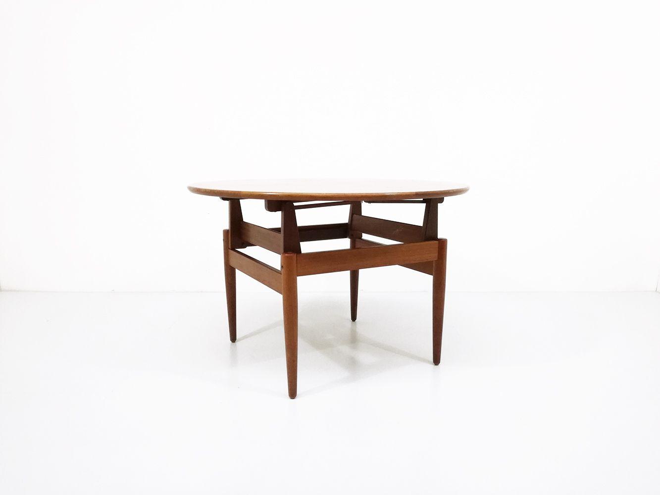 h henverstellbarer mid century tisch bei pamono kaufen. Black Bedroom Furniture Sets. Home Design Ideas