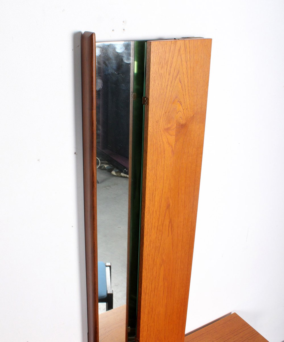 vintage frisiertisch mit spiegel und hocker bei pamono kaufen. Black Bedroom Furniture Sets. Home Design Ideas