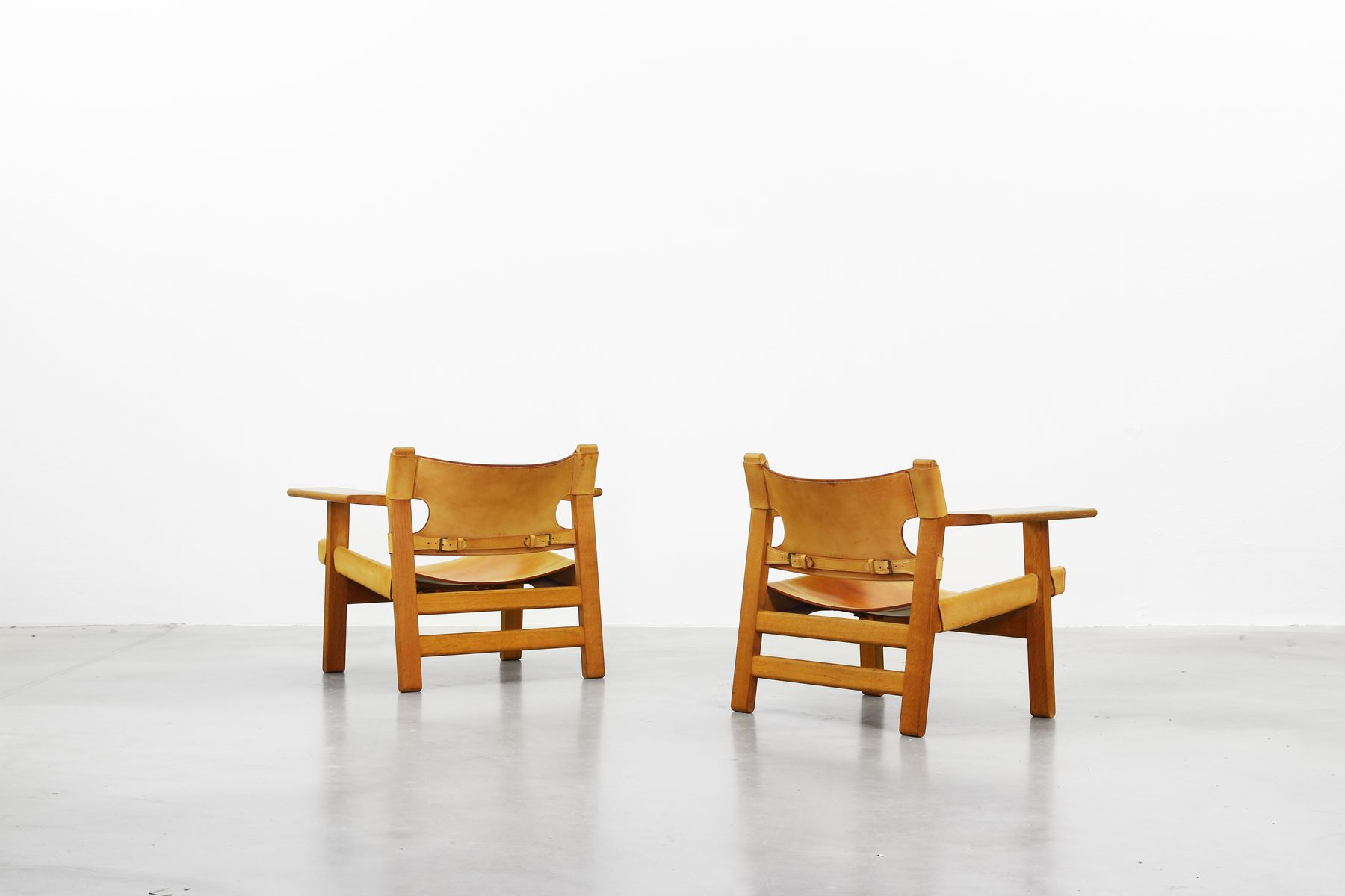 Spanish Chairs by B¸rge Mogensen for Fredericia 1958 Set of 2