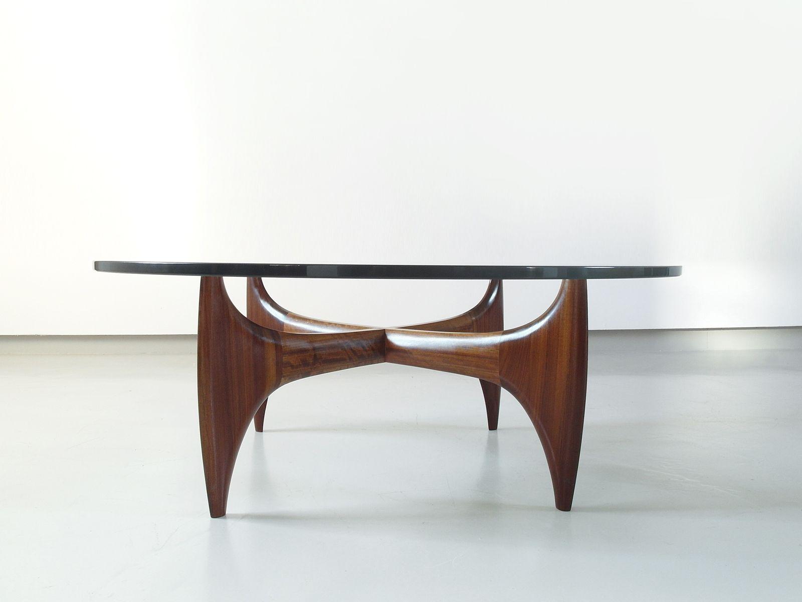 Brazilian Sculptural Coffee Table in Solid Jacaranda Wood 1960s